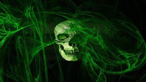 wallpaper green smoke skull in green smoke horror wallpaper