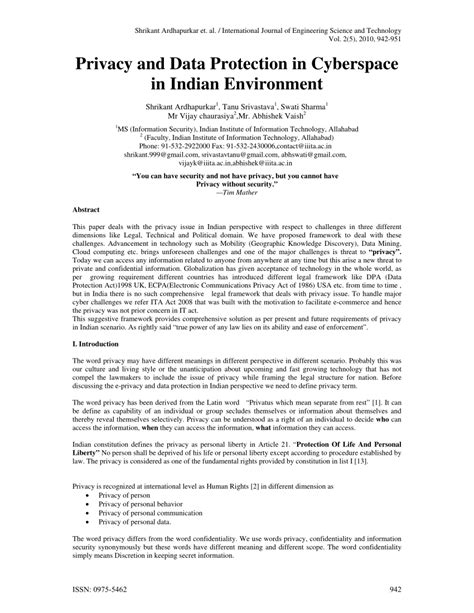 (PDF) Privacy and Data Protection in Cyberspace in Indian