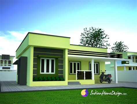 home architecture small single floor simple home design by niyas