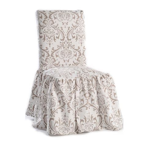 black white damask and stripe dining chair cover set of 2 search