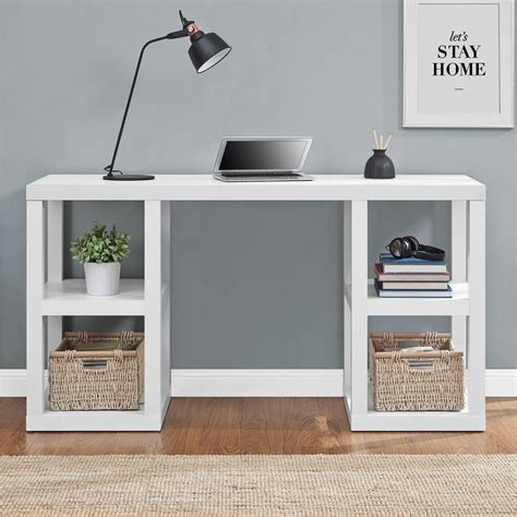 parsons desk white altra furniture parsons white desk 9318596com the home depot