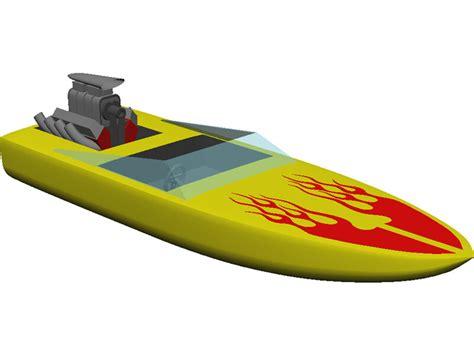 cartoon fast boat speed boat 3d model 3d cad browser