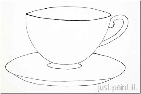 8 Best Images Of Tea Cup Printable Pattern How To Draw A Simple Tea Cup Paper Tea Cup Cup Template Printable