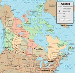 map of canada regional city in the wolrd maps of canada