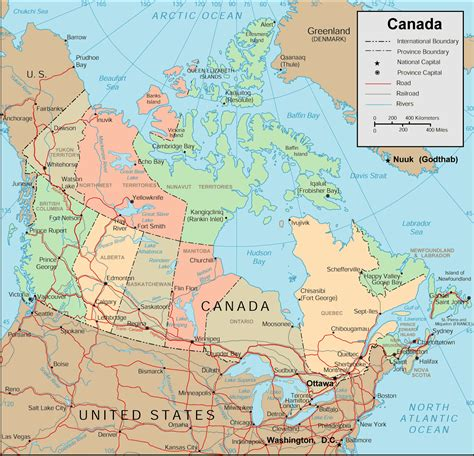 canadian map political map of canada regional city in the wolrd maps of canada