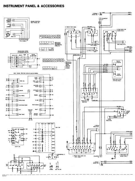cadillac de ville  instrument panel  accessories