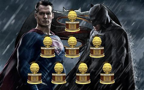 The Razzie Award Nominees Announced by 2017 Razzie Awards Winners Batman V Superman Leads With