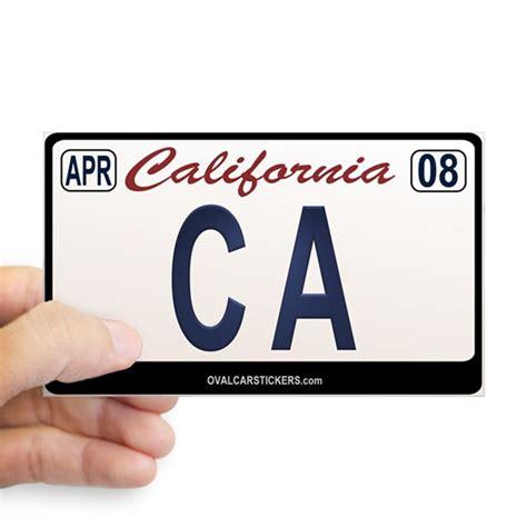 Sticker Plat California california license plate sticker ca by ovalcarstickers