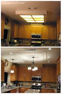 Kitchen Lighting Fluorescent Hometalk Replacing Updating Fluorescent Ceiling Box Lights With Ceiling Molding