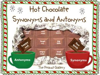 themed bar synonym hot chocolate synonyms and antonyms activities