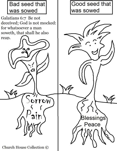 free coloring pages of seed planting