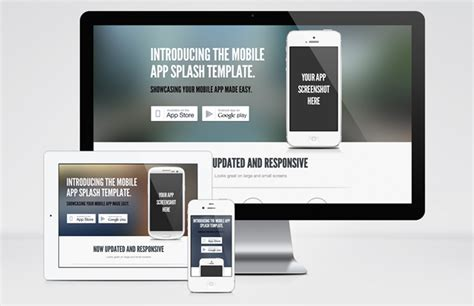 App Splash Page Template Medialoot Splash Page Template