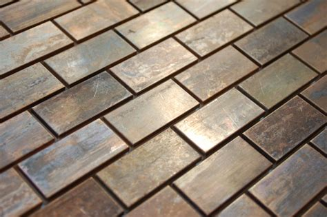 brick shaped bathroom tiles mosaic tile medium brick antique copper mosaic tile