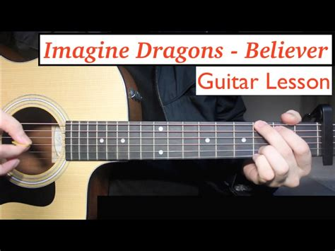 fingerstyle tutorial download imagine dragons believer guitar lesson tutorial how