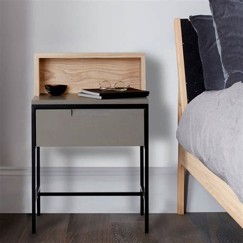 industrial bedside table howie industrial bedside table by mannmade