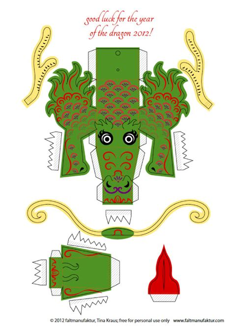 paper craft new 584 papercraft dragon template