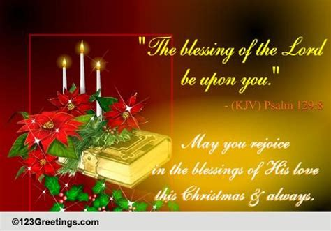 rejoice   blessings  christmas  religious blessings ecards