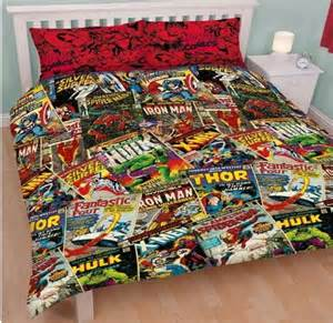 Boys Double Duvet Cover Marvel Comics Book Print Double Duvet Set Quilt Cover