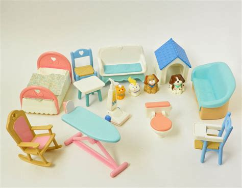 Fisher Price Loving Family Furniture by Vintage Fisher Price Loving Family Furniture And Pets 1993