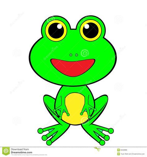 imagenes de la rana kawaii cute looking green happy frog stock vector illustration