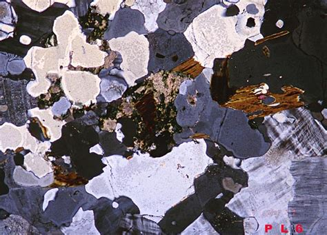 metamorphic textures thin section gneiss under crossed polars nerd stuff here pinterest