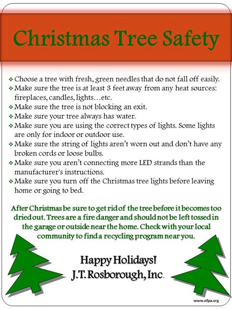 holiday safety tips j t rosborough