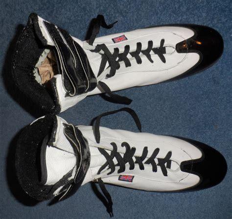 Mr Joe Handmade Shoes Pintar 1996 lennox lewis signed back up boots v mercer