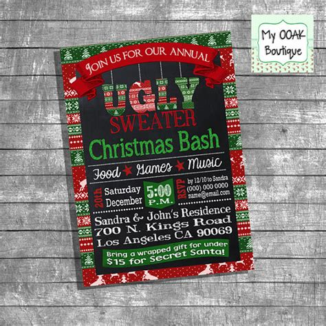 ugly sweater invitation christmas ugly sweater by