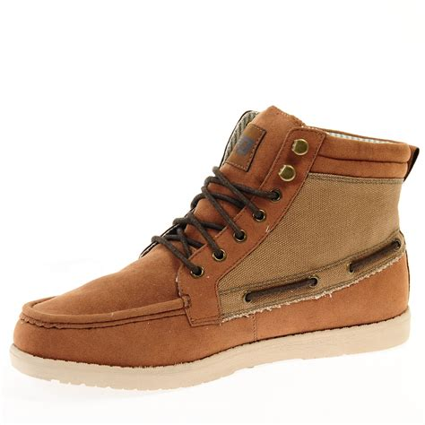 brakeburn mens ride boat shoe ankle boot non leather