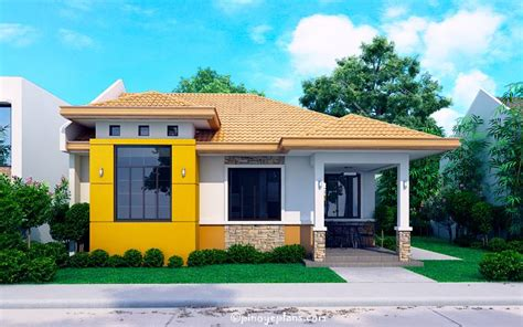 house design modern bungalow modern bungalow house with 3d floor plans and firewall