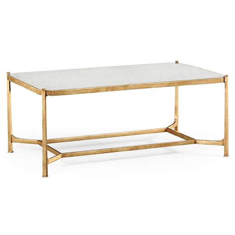 gold rectangle side table mercier rectangle coffee table luxe home company