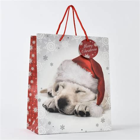 christmas dog large gift bag only 163 1 29