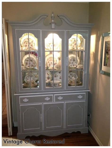 Wisteria Inspired Painted China Cabinet Painted Painted China Cabinet Ideas
