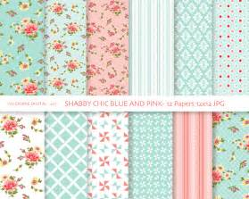 follow my passion shabby chic digital paper pack in blue