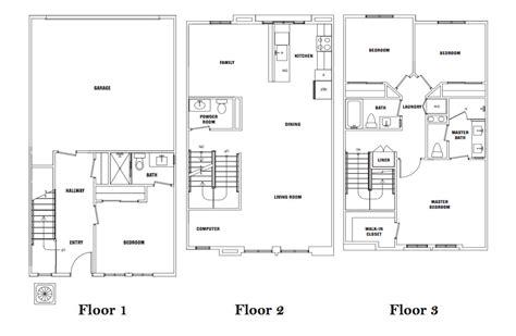 venice floor plan il borgo luxury townhomes santa fe