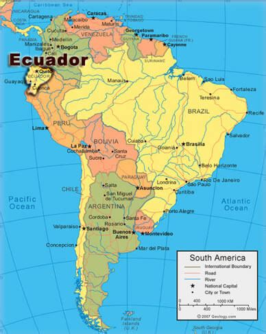 map of ecuador south america ecuador legend map