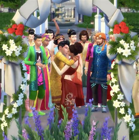 Sims 4 City Living Giveaway - perfect wedding venue in the sims 4 city living video beyond sims
