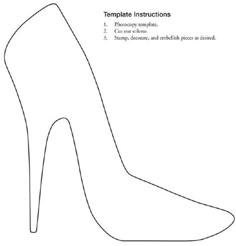 free printable stiletto shoe template collage