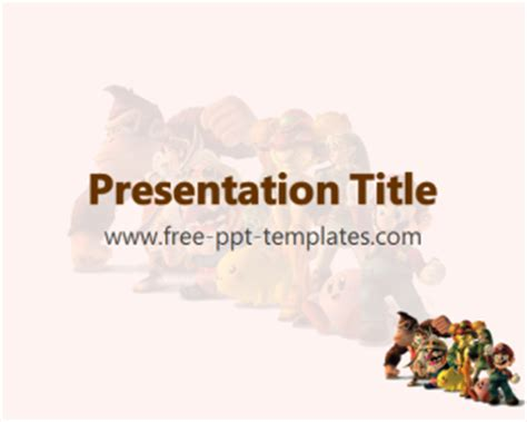 video game ppt template free powerpoint templates