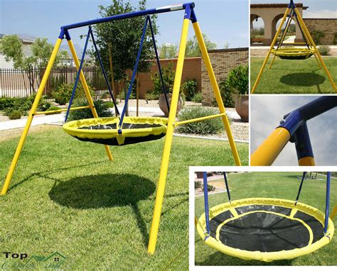 kids play swing set playground swing set toddler outdoor backyard kids ufo