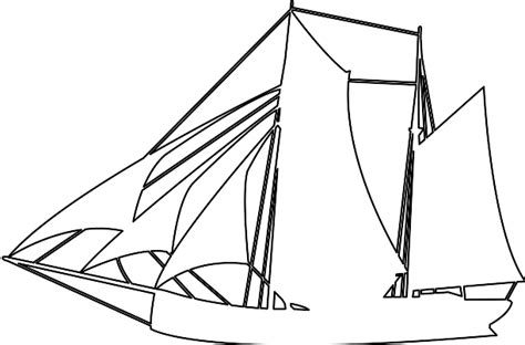 paper boat outline sailing boat silhouette free vector silhouettes
