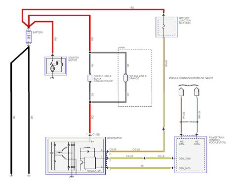 charging system schematic diagram get free image about