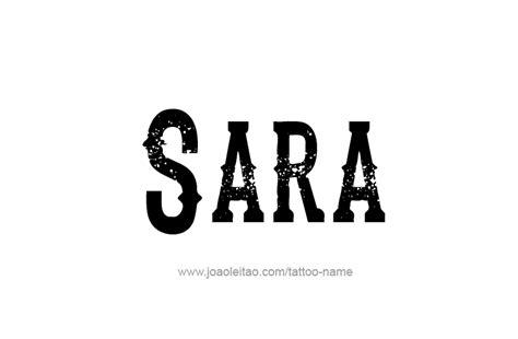 tattoo name sara sara name tattoo designs
