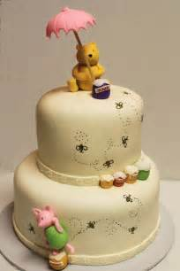 layers of winnie the pooh shower cake
