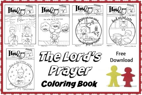 lords prayer  kids  lessons coloring pages