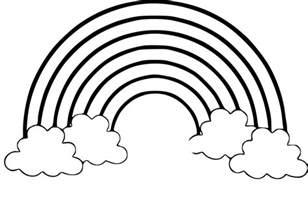 coloriage arc en ciel dessin 224 imprimer sur coloriages info