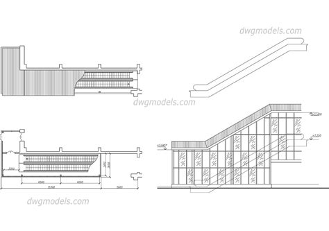 escalator floor plan escalator 1 dwg free cad blocks download