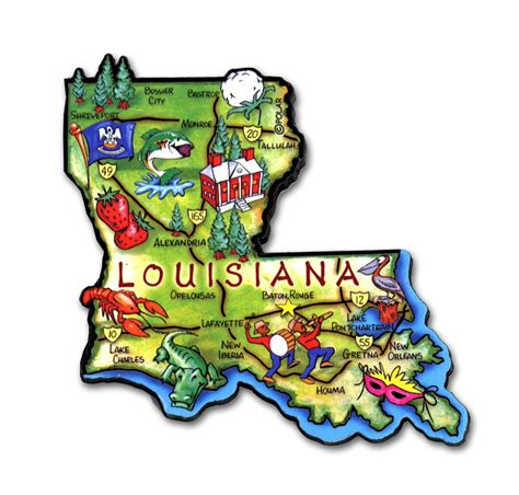 state of louisiana louisiana state magnet artwood classicmagnets