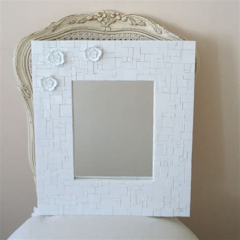buy custom made mosaic decorative white wall mirror with 3 - White Wall Mirrors Decorative