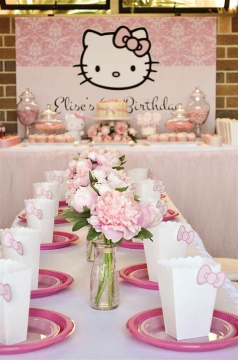 hello kitty themes party kara s party ideas pastel pink hello kitty party ideas